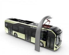 Volvo Officially Launches 7900 Plug-In Hybrid Bus (w/video) Giant Truck, Electric Van, Little Bus, Vw Group, Future Transportation, Vans Top, Bus Ride, Futuristic Cars, Bus Station