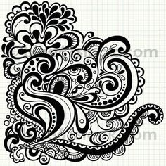 Psychedelic Doodles Abstract Vector Illustration by blue67 by blue67design, via Flickr