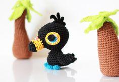 Oiseau au crochet, Amigurumi, Toucan au crochet, Ambiance tropicale / Crochet bird, Crochet toucan