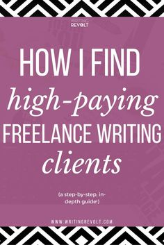 Wondering how to become a freelance writer and make money writing online? It's all about getting high-paying clients. This post will tell you everything you need to know about how to find clients as a freelance writer. Check it out! https://www.writingrevolt.com/how-to-get-freelance-writing-clients/