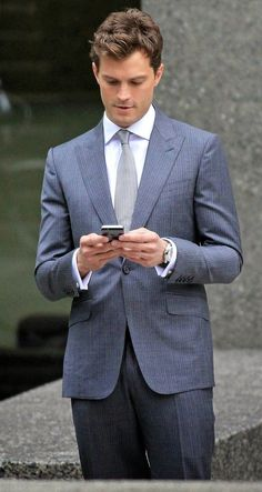 Jamie Dornan on the set of Fifty Shades of Grey (Oct. 13, 2014)