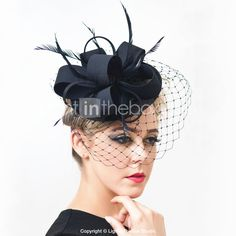 Cheap feather hat, Buy Quality bride hat directly from China veiling fascinator Suppliers: Black Ivory Round Sinamay Fascinator Feather Hats Birdcage Veil Fascinators Flower Hairclip Church Cocktail Party Bride Hats Black Birdcage Veils, Birdcage Wedding, Tea Party Attire, English Hats, Fascinator Headband, Black Fascinator, Fascinators, Feather Hat, Fancy Hats