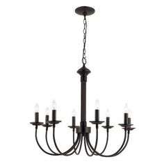 A stylish update on a traditional design, this nine-light chandelier balances a timeless oil-rubbed bronze finish and classic two-tier candelabra form with contemporary coiled details and draping designs. Easily incorporate this charming piece into a delectable dining ensemble in the eat-in kitchen by rolling out a chevron area rug in the center of the space, then hang this chandelier over a wooden pub table with matching slat-back stools in an espresso finish. Hosting Sunday brunch with…