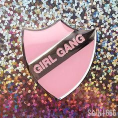 I love this Girl Gang enamel pin from Etsy - would look really cute on a denim jacket or leather jacket. #affiliate