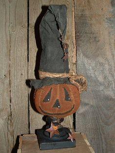 Primitive Wood Pumpkin Patterns | ... .com ::. PatternMart: Primitive Pumpkin witch make-do pattern 277PM