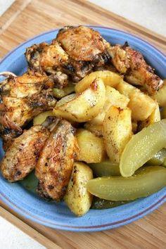 Skrzydełka w marynacie z majonezem (pieczone razem z ziemniakami) | sio-smutki! Monika od kuchni