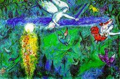 """""""Adão e Eva Expulsos do Paraíso"""" - Chagall"""