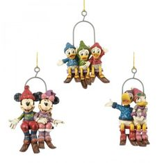 "Released 2013. ""Disney Fun On The Slopes"" Ornament Set. No 4033272"
