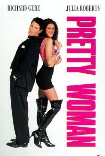 """""""Pretty Woman"""" (1990).  A man in a legal but hurtful business needs an escort for some social events, and hires a beautiful prostitute he meets... only to fall in love.  Well, this is a true classic.  It really stands the test of time.  As charming now as it was years ago."""