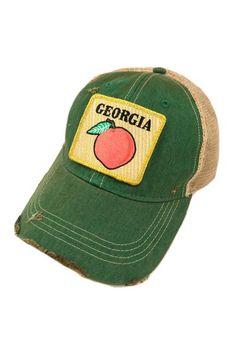 buy popular a21e8 9c7e3 Judith march georgia peach patch - green hat