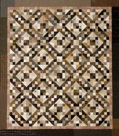 Jacob's Ladder quilt in neutrals