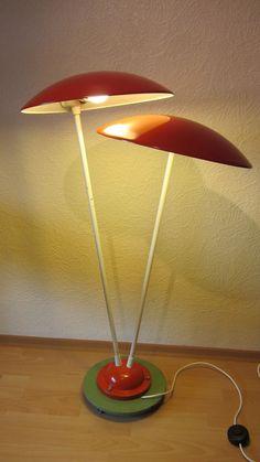 Mategot Pilzlampe mushroom lamp Minigolf Lampe Stehlampe 50er J. mid century