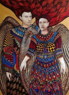 Artist Leticia Banegas Painting