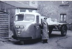 B/W PHOTO BRITISH RAILWAYS SCAMMELL SCARAB URBAN ARTIC - NXW 588 #Notapplicable
