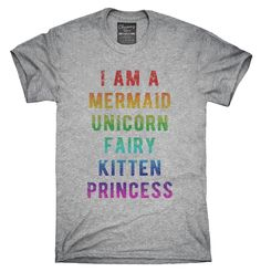 I Am A Mermaid Unicorn Kitten Fairy Princess T-Shirt, Hoodie, Tank Top