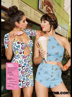 Diane Guerrero & Jackie Cruz of Orange Is The New Black pose for Cosmo for Latinas, Summer 2014