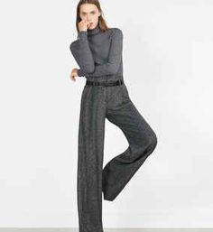 Zara - Herringbone trousers