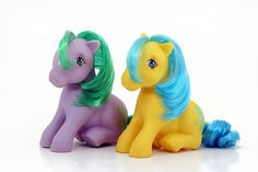 My Little Pony Bubbles and Seashell by lauramsanger, via Flickr