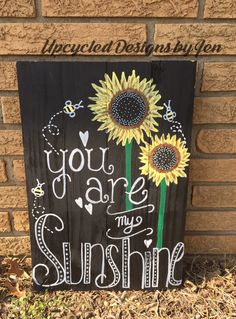 A personal favorite from my Etsy shop https://www.etsy.com/listing/262820524/you-are-my-sunshine