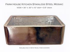 i WILL have a steel farmhouse sink in  my new kitchen. no exception! this one is fabulous!
