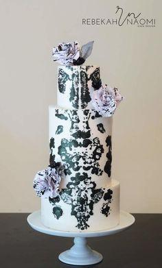 """Rorschach """"Ink Blot"""" cake - Cake by Rebekah Naomi Cake Design"""