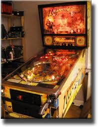 Indiana Jones pinball game by Williams.  This one is a lot of fun.  The actual sound bytes from the 3 movies was the best part!