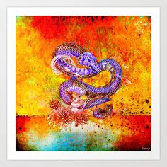 THE RETURN OF the ETERNAL DRAGON Art Print by ganech - $15.60