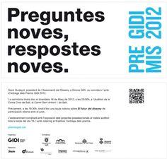 Invitació als Premis GiDi 2012