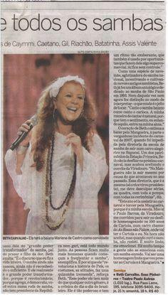 #BethCarvalho 2008 Jornal O Estado de S.Paulo