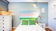 Dormitorio juvenil con cabecero de colores - General