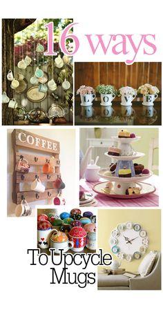 16 Ways to Repurpose or Decoratively Display Coffee Mugs