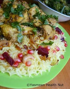 Yasmeen Health Nut: Kuwaiti Chicken Mechbous and Saffron Cardamom cake