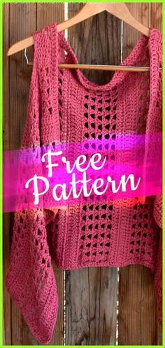 Crochet XOXO Summer Vest #crochetpattern #tutorialcrochet #easycrochet