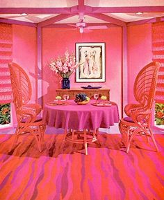 Pink Interior that makes me want to creat a new hot pink rug! #carpetswithsoul #josephcarinicarpets