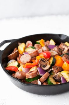 Low Carb Chicken Sausage and Vegetable Skillet