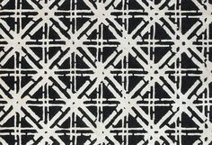 Our Bamboo Lattice Collection. Beautiful & modern black and white rug.