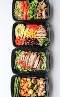 Chicken bowl meal prep 5 ways. This is what I'm looking for! Ways to meal prep w/o having to eat the exact same thing every day this is a good start/example