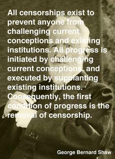 Great minds on censorship.