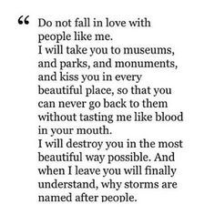 dont fall in love with me