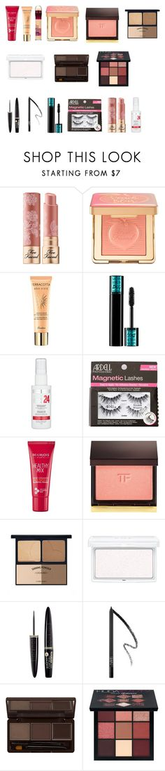 """""""Flushed"""" by tyronewelle ❤ liked on Polyvore featuring beauty, Too Faced Cosmetics, Guerlain, Lancôme, Maybelline, Charlotte Russe, Bourjois, Tom Ford, RMK and NARS Cosmetics"""