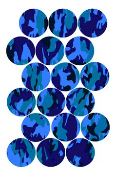 "Fun Camouflage Pattern (Blue) Bottle cap image pack  Formatted for printing on 4"" x 6"" photo paper"