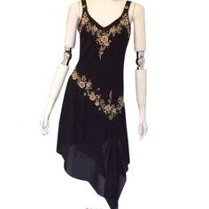 """R&M Richards Embroidered Jewel Detailed, Dress R & M Richards V Neck Embroidered, Jewel Detailed, Sequins Sleeveless Dress. Size 8 Petite. 100% Polyester. Lining 100% Polyester. Dry Clean. Measurements: Armpit to Armpit 17.5"""", Length 51"""", Waist 15."""" PLEASE NOTE: This is a size 8 Petite. R & M Richards Dresses Midi"""