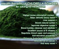 Benefits of chlorella powder. Vitamin Deficiency, Regulate Blood Sugar, Boost Immune System, Juicing For Health, Juice Smoothie, Smoothies, Healthier You, Amino Acids, Healthy Life
