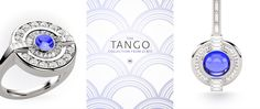 The Tango jewellery collection is the ultimate in Art Deco style from Blacklock Jewellery. The collection features cabouchon cut blue sapphires, brilliant cut diamonds and white gold. A luxury collection for the most discerning of fine jewellery buyers.