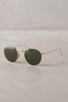 Ray-Ban Round Sunglasses Gold One Size Eyewear