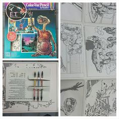Vintage 1982 E.T. Extra-Terrestrial Pencil by Number - #ettheextraterrestrial #et #extraterrestrial #hasbro