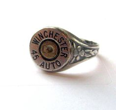because i love bullet jewelry Bullet Ring, Bullet Jewelry, Ammo Jewelry, Jewelry Accessories, Jewelry Design, Unique Jewelry, Shotgun Shell Jewelry, Nerd Fashion, Girly Outfits