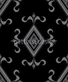 Gothic Black by Martina Stadler available as a vector file on patterndesigns.com Vector Pattern, Vector File, Surface Design, Medieval, Gothic, Patterns, Black, Block Prints, Goth