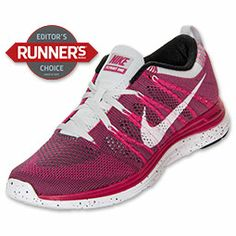 Women's Nike Flyknit Lunar 1+ Running Shoes| FinishLine.com | Fireberry/White/Dark Grey/Pure Platinum