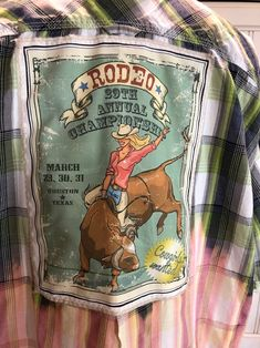 Rodeo Shirts, Flannel Shirts, Bleach Shirts, Bleach Spray Shirt, Shirt Refashion, Clothes Refashion, Houston Rodeo, Cute Country Outfits, Back Pictures
